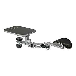 Desk Clamp Arm Rest w/Mousepad, Silver