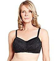 Post Surgery Floral Lace Non-Wired Padded A-DD Bra