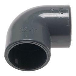 Klebemuffen-Winkel 90° PVC-U - PN 16 25 mm, 33 mm, 33 mm, 14 mm