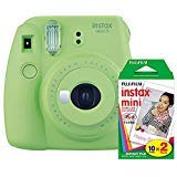 Fujifilm Instax Mini 9 (Lime Green) Instant Camera with Mini Film Twin Pack (Color: Lime Green)