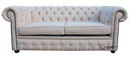 Chesterfield 2 plazas o sofás de pergamino tela para sofá o ofrecen Plain Zoe
