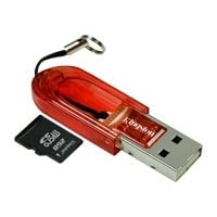 Kingston 2 GB microSD card and USB Adapter
