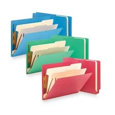 Smead Colored End Tab Classification Folders, Letter, 6-Section, Red, 10/box
