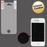MyBat iPhone 4S/4 Glitter LCD Screen Protector - Retail Packaging - Clear/Gold