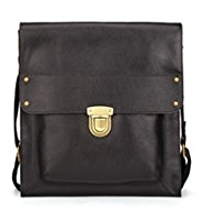M&S Collection Leather Cross-Body Messenger Bag