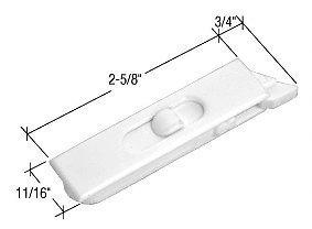 CRL White Plastic Tilt Window Latch F2749