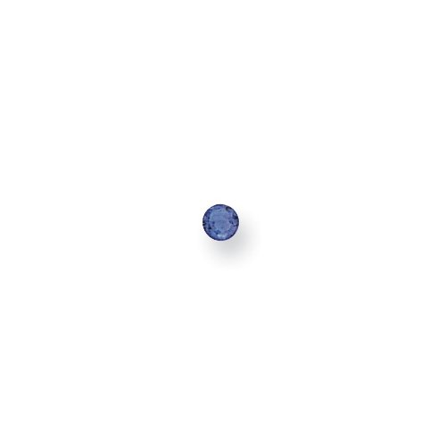 Synthetic 2mm Round September Birthstone PI