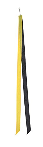 In the Breeze Colorblock Kite Tails, Yellow/Black, 60-Inch - 1
