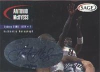 Antonio McDyess Denver Nuggets 2000 Sage Authentic Signature Autographed Hand Signed... by Hall of Fame Memorabilia
