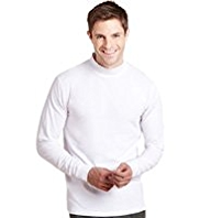 Cotton Rich Polo Neck T-Shirt
