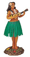 Leilani Dashboard Hula Doll Playing U…