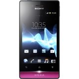 Sony Xperia Miro ST23A Unlocked Android Phone with 5 MP Camera and 3.5-Inch Screen--U.S. Warranty (Black/Pink)