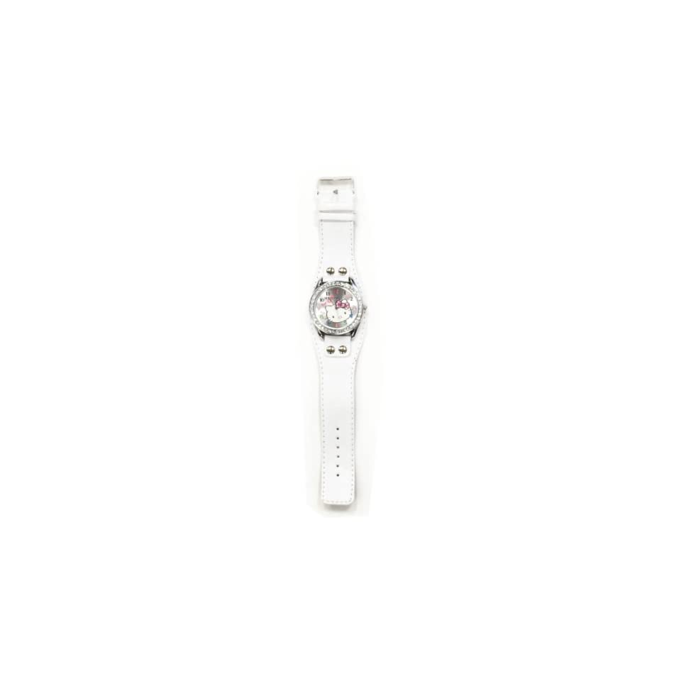 Hello Kitty Child Wrist Watch White With Crystals