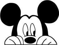 See Mickey Peeking Vinyl Car/Laptop/Window/Wall Decal Details