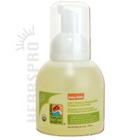Lafe's Organic Baby Foaming Baby Shampoo & Wash, Bottle