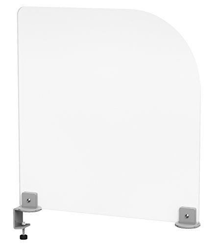 Clamp-on Desk Divider Privacy Screen, Frosted Acrylic (Desk Privacy Panel compare prices)
