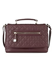 M&S Collection Leather Quilted Cross Body Bag