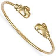 Jewelco London 9ct Solid gold children's Boxing glove Torque Bangle