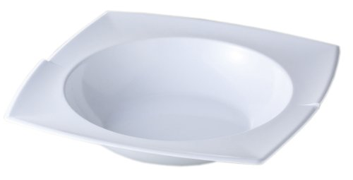 "Carlisle 3331802 Rave Melamine Rimmed Display Bowl, 2.5 qt., 3.00 x 14.88 x 14.88"", White (Case of 6) - 1"