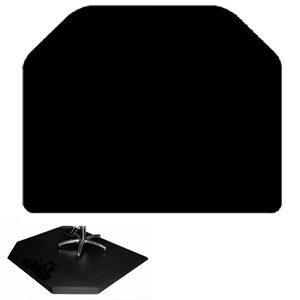 "Salon 5' X 4' Elite Anti-fatigue Mat * 3/4"" Thick * Black * No Chair Depression"