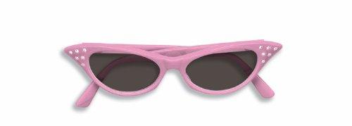 50s Pink Rhinestone Tinted Glasses - 1