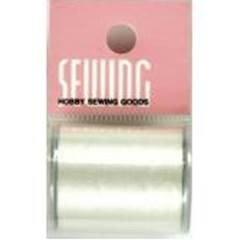 SEWING 絹ミシン糸ボビン巻白130mフック付