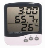 General Tools DTH04 Digital Jumbo Display Temperature and Humidity Monitor with Clock - 1