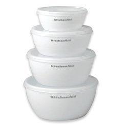 KitchenAid Cooks White Prep Bowls, Set of 4