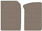 Nissan 610 Custom-Fit All-Weather Rubber Floor Mats 2 Pc Fronts - Fits With Catalytic Converter Only -Dark Beige (1973 73 1974 74 1975 75 1976 76 1977 77 )