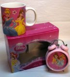 Disney Princess Ceramic Mug with Alarm Clock in Gift Box