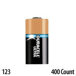 Lithium 123 Battery Bulk Duracell Ultra 3 Volt 400 Count