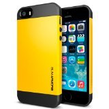 SPIGEN SGP SGP10368 Slim Armor S Case for iPhone 5/5S - Carrying Case - Retail Packaging - Reventon Yellow