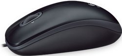Logitech M100 USB Optical Wired Mouse 910-001601 (Black)