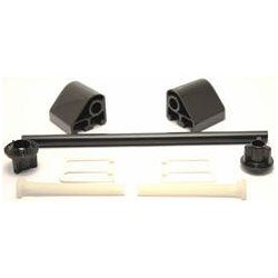 TOILET SEAT FITTING KIT & ROD - BLACK- REPAIR KIT