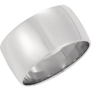 Genuine IceCarats Designer Jewelry Gift 10K White Gold Wedding Band Ring Ring. 08.00 Mm Light Half Round Band In 10K Whitegold Size 7.5