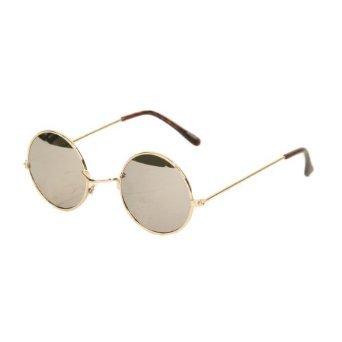UB John Lennon Style Mirror Lens Sunglass, Gold