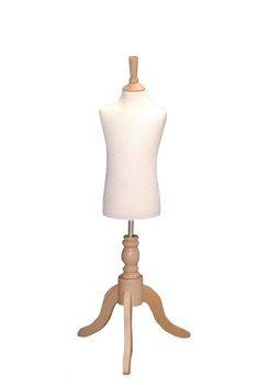 Kinder-Schneiderpuppe-3-4-Jahre-Schneidern-Dummy-Schneiderbste-Display-wird-auf-weiblich-mit-dreibeinigem-Standfu-aus-Holz