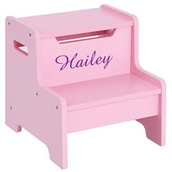 Personalized Expressions Step Stool-Pink by Guidecraft