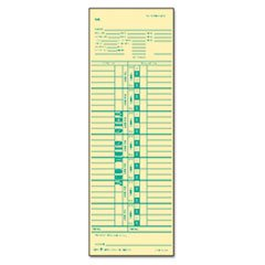 ** Time Card for Cincinnati, Simplex, Weekly, 3-1/2 x 10-1/2, 500/Box **