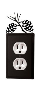 VWI EO-89 Pinecone - Single Outlet Electric Cover Powder Metal Coated
