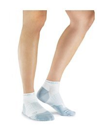 Tommie Copper Lg White Women'S Ankle Compression Socks
