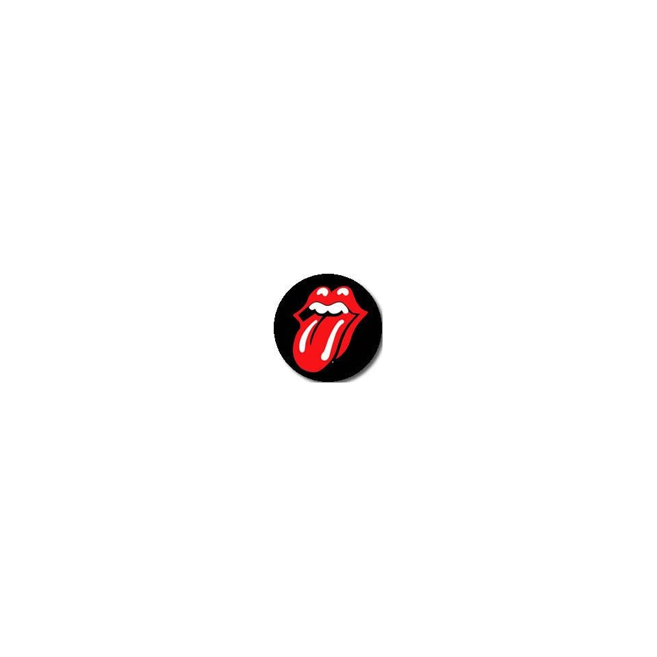 The Rolling Stones Classic Red Tongue PINBACK BUTTON 1.25 Pin / Badge