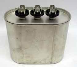 Motor Dual Run Capacitor Oval 40 + 3 + uf MFD 370 Volt VAC 12851