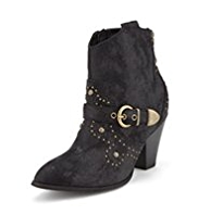 Limited Edition Western Studded Ankle Boots with Insolia®