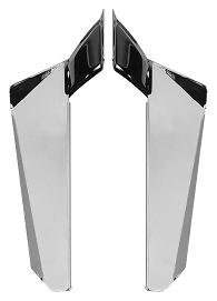 National Cycle Chrome Lower Deflectors , Finish: