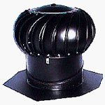 Lomanco, Inc. BIB14B Black Aluminum Turbine Ventilator, Interal Brace, Permanently Lubr 14