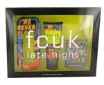 FCUK Late Night by French Connection Gift Set -- 3.4 oz Eau De Toilette Spray + 3.4 oz Body Lotion + Free Playing Cards for Women