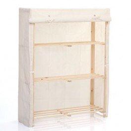 commode en bois et tissus avec tag res cuisine maison. Black Bedroom Furniture Sets. Home Design Ideas