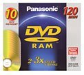 3x DVD-RAM Single-Sided Media