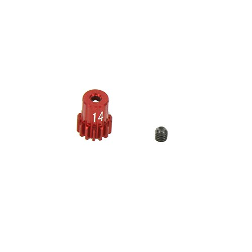 GPM Racing 14T Pinion Gear for 1:18 Associated 18B2 + Other AE Models, Red